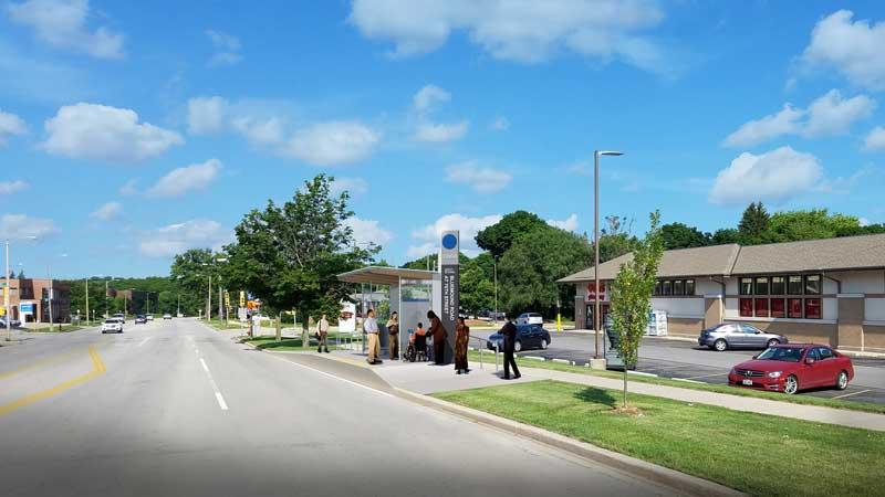 Bluemound Rd and 76th St Westbound