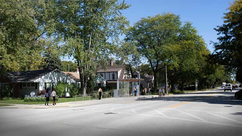 Bluemound Rd and 68th St Westbound